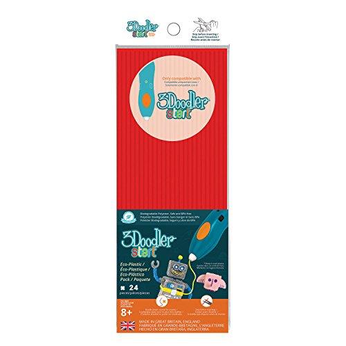 3 Doodler 62115 - Pack de iniciación de plástico, Color Rojo