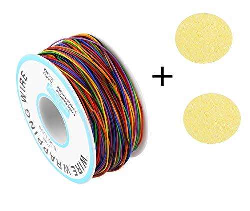 280M Wire Wrapping Draht Klingeldraht Kabel Isolierung Test 30AWG Verzinnte Kupfer Solid Kabel