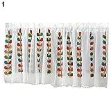 Moares Cortinas para el hogar, cortinas cortas, diseño de flores, bordadas, poliéster, media cortina para cocina, 145 x 45 cm