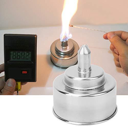 Lampada ad alcool in acciaio inossidabile, lampada da laboratorio, bruciatore ad alcool di alta qualità, 200 ml per riscaldamento da laboratorio Indistruttibile durevole