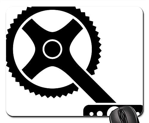 Mauspad Fahrrad Kurbel Fahrrad Mountainbike Mountainbike Gaming Mausmatte Anti Rutsch Gummiunterseite Anti-Ausfransen Gaming Mousepad Hochwertiges Mausunterlage Für Laptop/Pc, 25X30 Cm