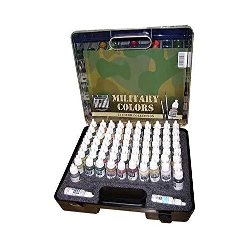 Model Color - 72 Military Colors Set in Plastic Case