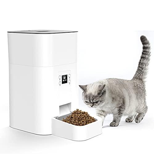 Dispenser Automatico Di Cibo Secco Per Cani E Gatti - Dispenser Di Cibo Per Animali Domestici Con Schermo Lcd, Batteria Per 4 Pasti/Giorno E Adattatore