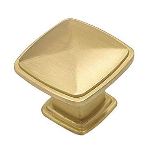 homdiy Brushed Brass Cabinet Knobs Gold Knobs - HD8791GD 15 Pack Gold Drawer Knobs for Kitchen Cabients, Dresser Drawers