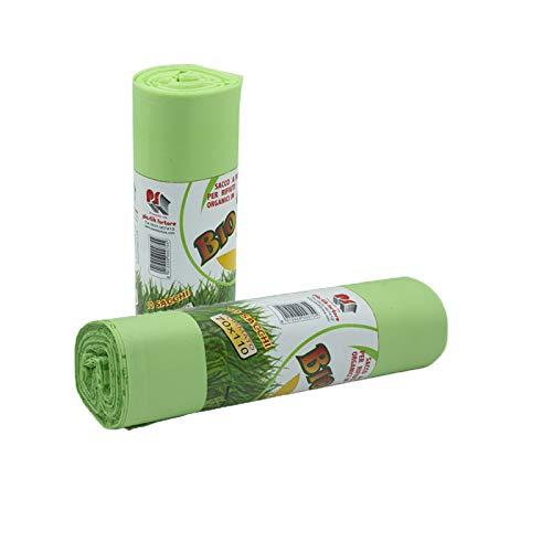 VIRSUS Sacchi Raccolta Umido e Organico cm 70x110 (110 Litri) 20 Pezzi biodegradabili e compostabili