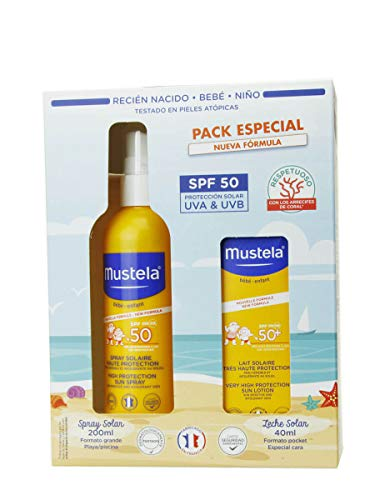MUSTELA PACK SOLAR LECHE CORPORAL SPF50 + CREMA CARA SPF50