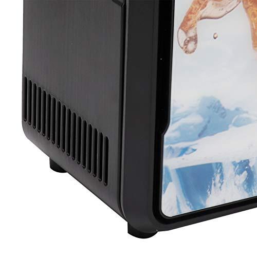 Frigorífico eléctrico de diseño de una sola puerta, para el hogar, para almacenamiento, para la conservación de alimentos(Standard black 18w, Pisa Leaning Tower Type)