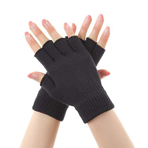 Eco Ride World 指なし手袋 半指手袋 半指 指なし 手袋 グローブ 軍手 (ブラック) globe_042