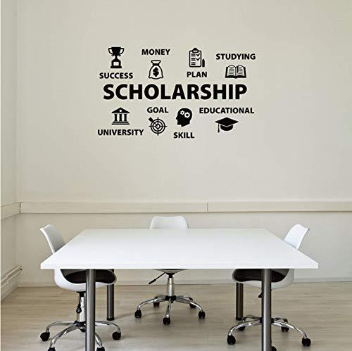 EyingEr väggklistermärken konst väggmålning stipendium skola universitet utbildning vinyl väggdekal klistermärken dekorativt mönster heminredning 57 x 99 cm