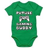 Shirtracer Sprüche Baby - Future Gaming Buddy - 12/18 Monate - Grün - Baby Strampler Gaming - BZ10 - Baby Body Kurzarm für Jungen und Mädchen