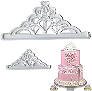 S.Han Fondant Plastic Crown Cutter Mold Mould Chocolate Baking Cake Decoration Tool
