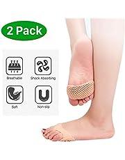 Almohadillas de metatarsiano para la bola de los pies, almohadillas de gel suave de silicona para el antepié para mujeres y hombres, almohadillas de neuroma reutilizables para deportes