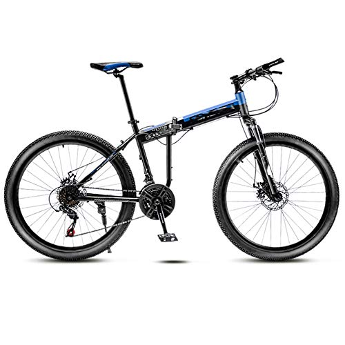 MJKT Adult Mountain Bike,26 inch Wheels Mountain Trail Bike High Carbon Steel Folding Outroad Full Suspension MTB Adult Folding Mountain Dual Disc Bicycle(Red) 03