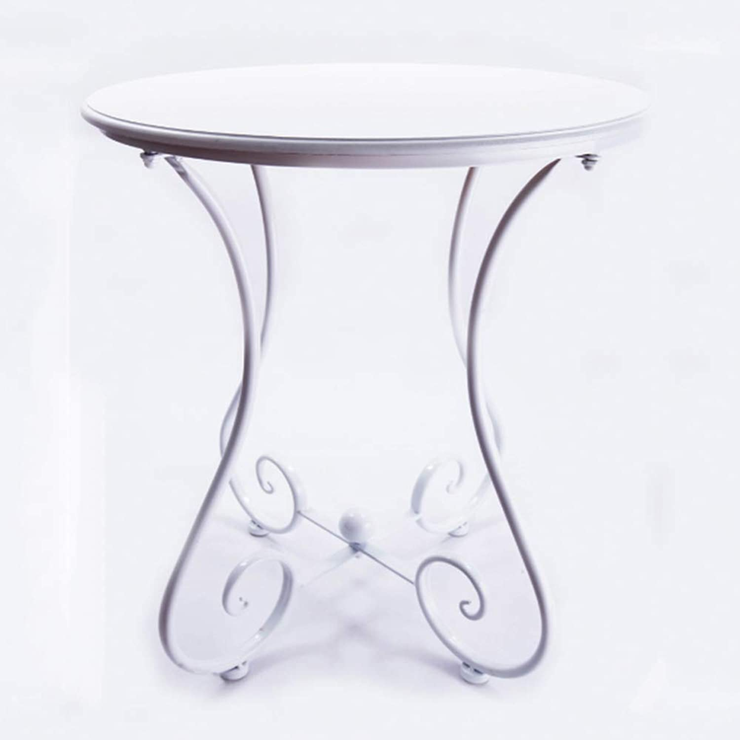 Small Coffee Table MDF Side Table European Small Round Table Multifunctional Sofa Table 3 colors (color   White, Size   60  65cm)