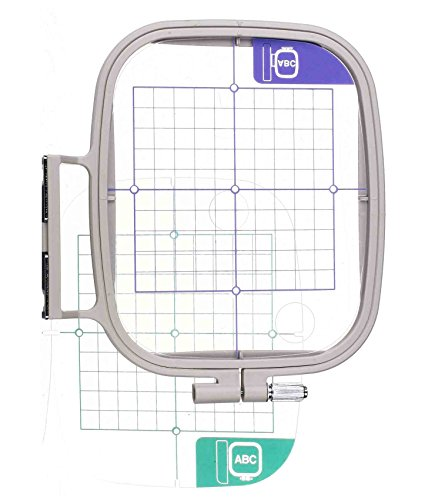 4 x 4inch Embroidery Hoop w/Placement Grids Works with Brother PE-700 PE700II PE-750D PE-770 PE-780D PE 800 Innovis 1000, Innovis 1200, Innovis 1250D PC-6500 PC-8200 PC-8500 Babylock Ellure