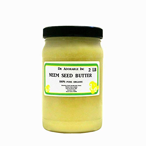 Neem Seed Butter Pure Organic Cold Pressed Unrefined Skin Recovery Relief Healing 32oz/2 lb