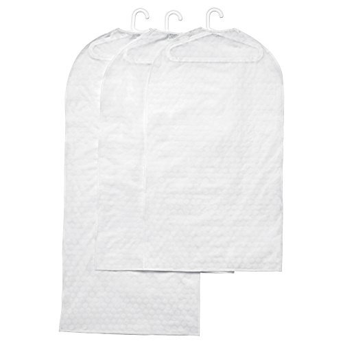Ikea Clothes Covers Storage Garment Bags Pluring 3 Transparent White, 2 Small 1 Large Covers by Garment