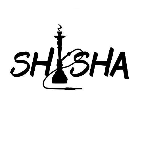 SUPWALS Wandtattoos Kreative Shisha Wandtattoos Wohnkultur Für Kinderzimmer Vinyl Wohnzimmer Innenwandaufkleber Rauchergeschäft Kunstschmuck 150X84Cm