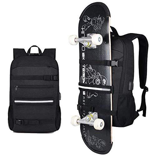 Skateboard Backpack Rucksack Fits 15.6-17' Laptop for College Business Travel
