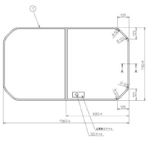 お風呂のふた TOTO 風呂ふた 組み合わせ式 組みふた 外寸:1360×790mm PCF1441#N11 トト