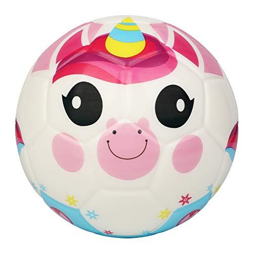 BORPEIN Pro Mini pelota de fútbol para niños pequeños, pelota de espuma de estilo bosque, suave y flexible, tamaño perfecto para niños, Unicornio