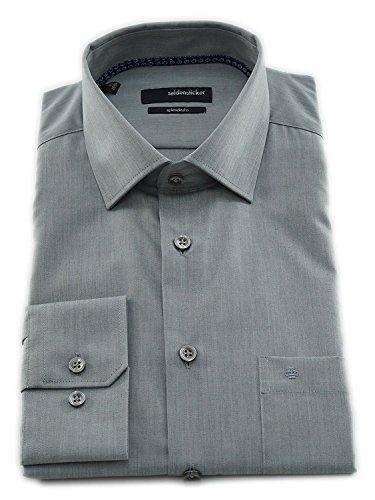 Seidensticker Herren Langarm Hemd Splendesto Regular Fit Business Kent Patch3 grün strukturiert 110446.76 (47, Grün)