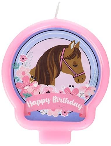 Pink Saddle Up Birthday Candle - 1 Pc.