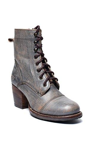Bed|Stu Women's Judgement Leather Boot (6.5, Smoke Grey Lux)