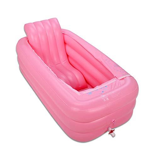 HEROTIGH Piscinas Hinchables Adulto Grande Cálido Inflable Acolchado con Parte Inferior Acolchada Y Respaldo 165X85X45Cm Inflatable Pool