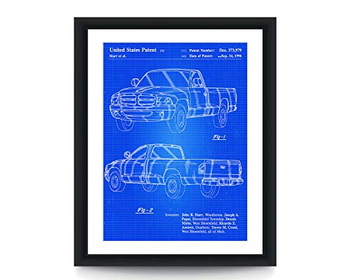 Dodge Ram 1997 Patent Poster Dodge Truck Patent Poster Patent Art Poster Truck Wall Art Garage Art
