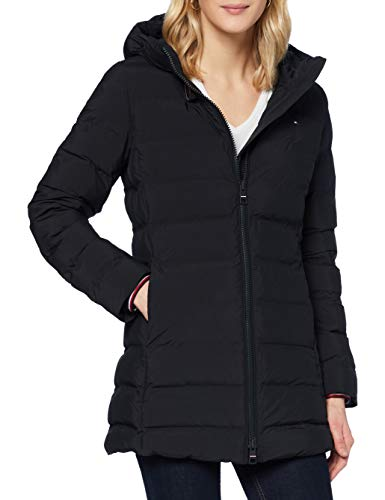 Tommy Hilfiger Damen Th Ess Seamless Sorona Coat Jacke, Black, M