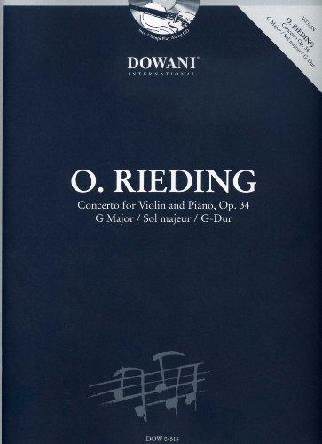 CONCERTINO G-DUR OP 34 - VL ORCH - arrangiert für Violine - mit CD [Noten / Sheetmusic] Komponist: RIEDING OSKAR