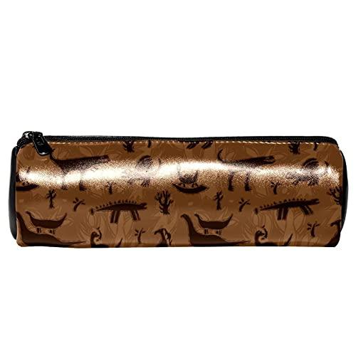 Estuche de lápices de dinosaurios vintage, bolsa de almacenamiento, organizador de cosméticos para la escuela, adolescentes, niñas, niños, hombres y mujeres