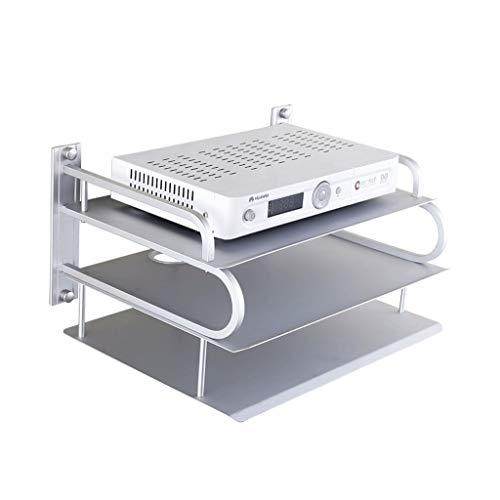 Goede decoratie 3 Lagen WIFI Router Plank Wandgemonteerd- Creatieve Ruimte Aluminium Woonkamer Partitie Opslag Rack Set-top Box Beugel
