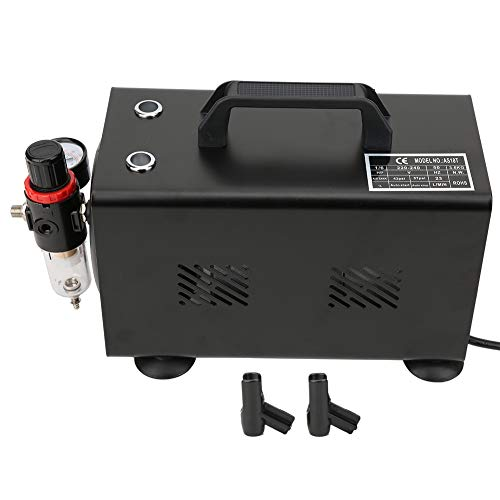 Redxiao 【𝐕𝐞𝐧𝐭𝐚 𝐑𝐞𝐠𝐚𝐥𝐨 𝐏𝐫𝐢𝐦𝐚𝒗𝐞𝐫𝐚】 Compresor de pistón, Duradero 20-23L / Min 1450/1750 RPM Compresor de Aire, Negro(European Standard 220-240V)