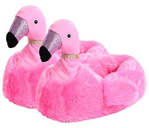 Alsino Flamingo Hausschuhe Größe: 37-42 Pantoffeln Plüsch Schuhe Puschen Kuschel-Hausschuhe, Größe:40-42, Flamingo Farbe wählen:pink