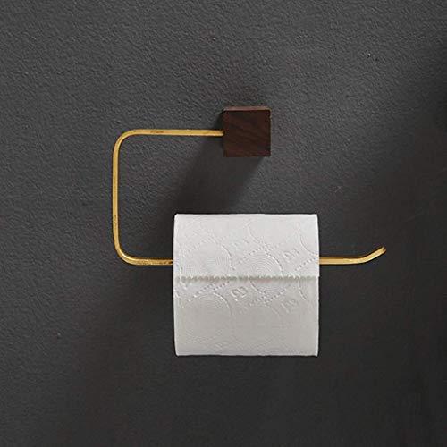 WTT toiletpapierhouder met koperen coating, keukenrolhouder, hangend, vrijstaand