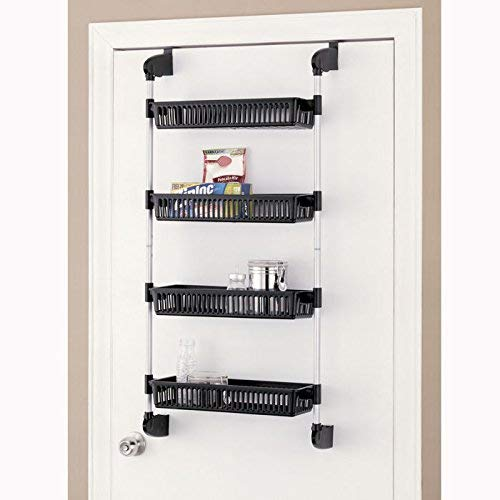 Organize It All Over The Door 4-Basket Hanging Storage Unit With Hooks