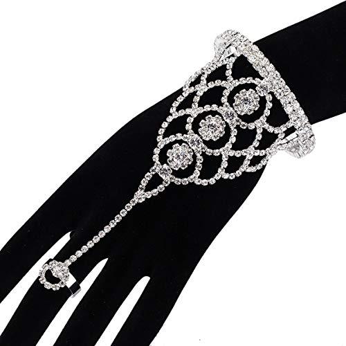 BGQ Pulsera de diamantes de imitación de lujo
