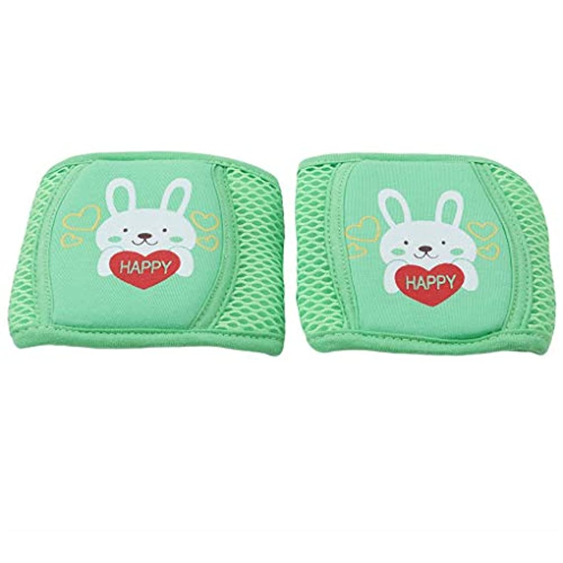 Potelin Moth Elbow Children Breathable Mesh Knee Pads Infant Knee Pads Baby Crawl Toddler Shatter-Resistant Elbow Fall Protection Safety Device,Bunny Green Durable and Useful