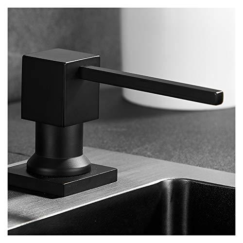 Dispensador de jabón Dispensador de jabón negro Fregadero de cocina lavavajillas para lavavajillas Botella de detergente de gran capacidad Fregadero Detergente Press Dispensador de jabó