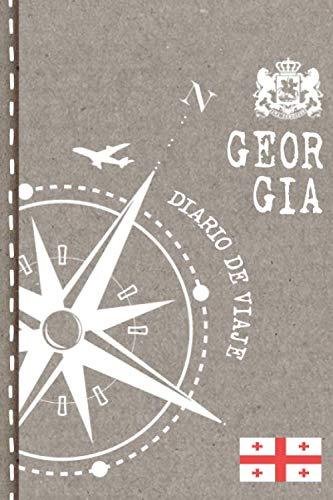 Georgia Diario de Viaje: Libro de Registro de Viajes - Cuaderno de Recuerdos de Actividades en Vacaciones para Escribir, Dibujar - Cuadrícula de Puntos, Bucket List, Dotted Notebook Journal A5