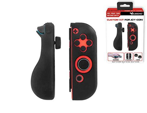 Subsonic - Housses de protection en silicone pour Joy-Con - Skin de protection avec grip de précision pour joysticks - Custom Kit compatible JoyCon Nintendo Switch