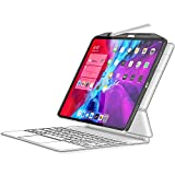 SwitchEasy [2021 Upgraded] CoverBuddy Case for iPad Pro 12.9 inch 2020 (4th Generation) & 2018, Compatible with Magic Keyboard and Smart Folio, with Pencil Holder (Keyboard Not Included) (12.9',Gray)