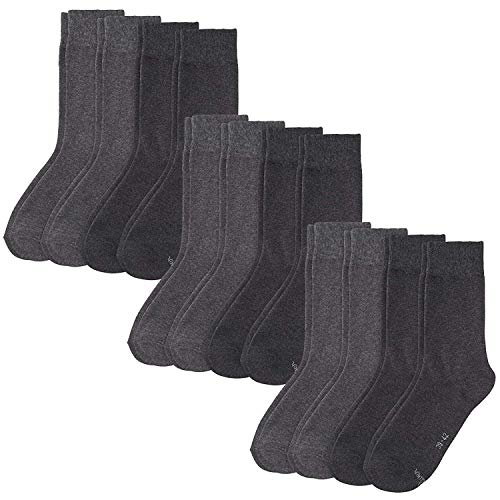 s. Oliver Socken 12 Paar, Unisex Classic Socks, Kurzsocken, S20028 (3x 4er Pack) (Grau, 39-42 (6-8 UK))