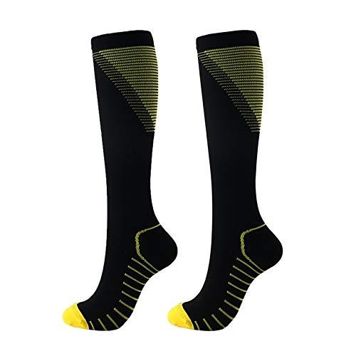 BL Deportes Calcetines de compresión Corriente del maratón Calcetines de Ciclismo de Larga Transpirable Baloncesto Alivio del Dolor Deporte de los Hombres Calcetines de Running