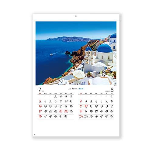 新日本カレンダー 2020年 カレンダー 壁掛け ヨーロッパ NK28