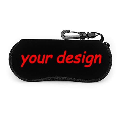 Custom Personalized Portable Glasses Bag - Sunglasses Soft Case Ultra Light Neoprene Zipper Eyeglass Case 6.7 X 3.1 Inch