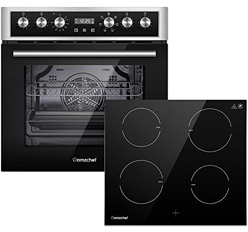 Accesorios para horno eléctrico AMZCHEF Integrado (70L Juego de cocina con placa de inducción)