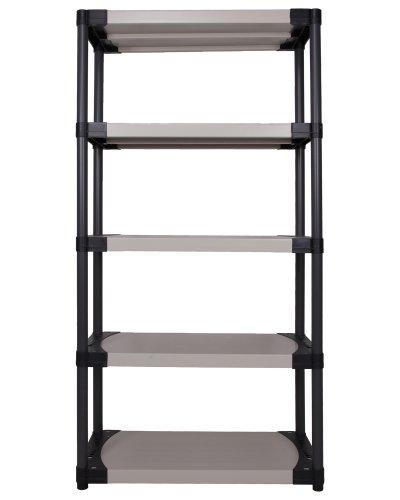 Ondis24 Kunststoffregal, Schwerlastregal, 105 x 40 x 175 (H) cm, Steckregal Worker, 4 Böden, bis 320 kg belastbar